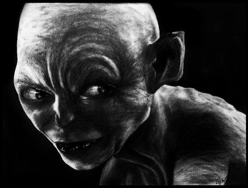 Hand_Drawn_Gollum by anngelik