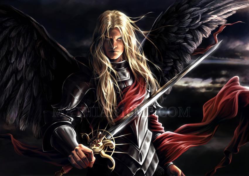 Angel vs. Devil p1 -- Lucifer by arkoniel