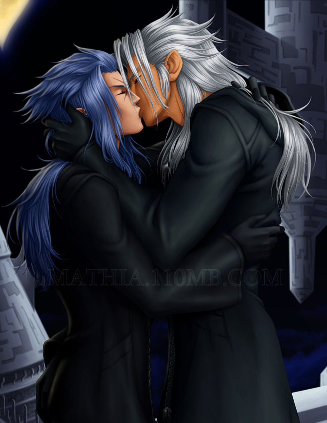 Xemnas and Saix by arkoniel