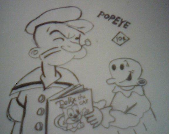 Popey reading a book by artfreakjess1