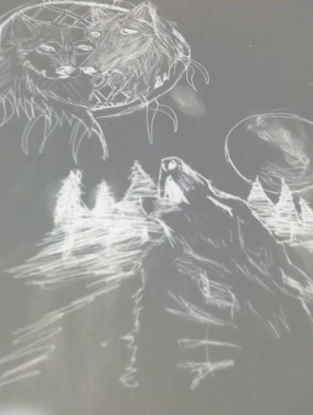 wolf dreamcatcher by artfreakjess1
