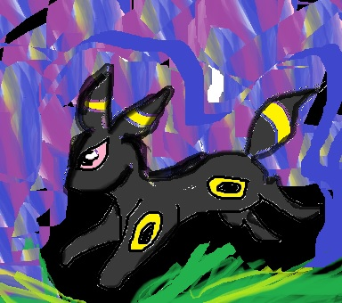 umbreon (evee) by artfreakjess1