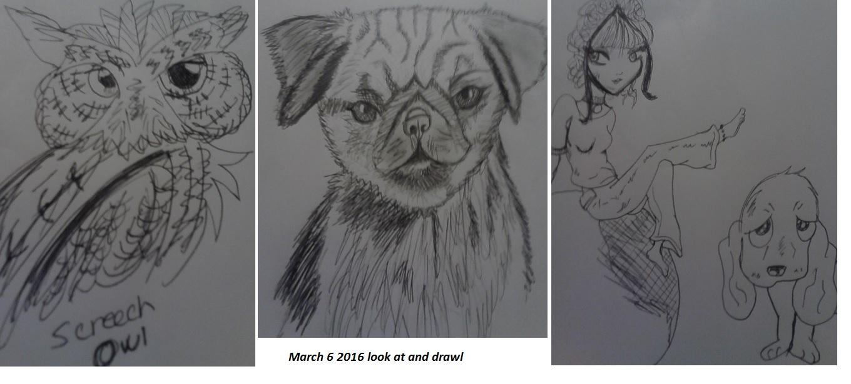 March 6th drawings by artfreakjess1