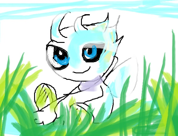 Celebi playin in the grass by artfreakjess1