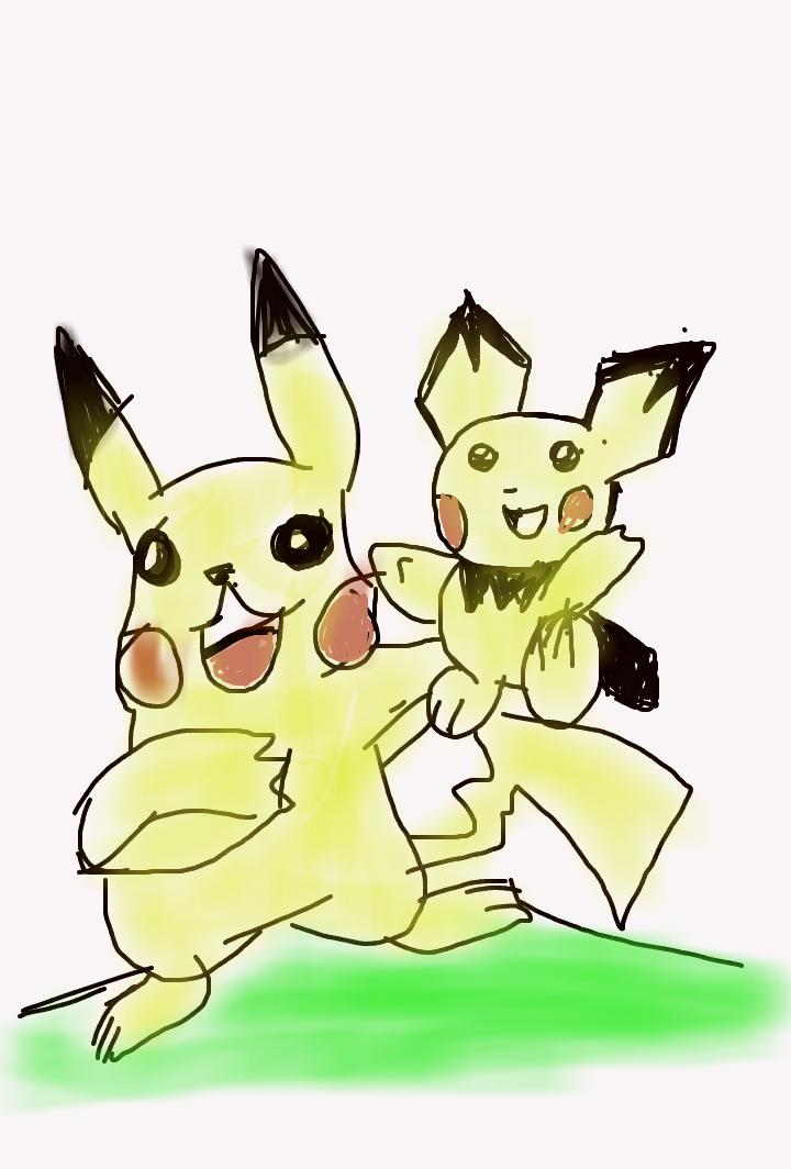 Pikachu Pichu by artfreakjess1
