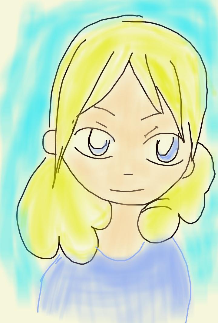 Blond hair girl by artfreakjess1