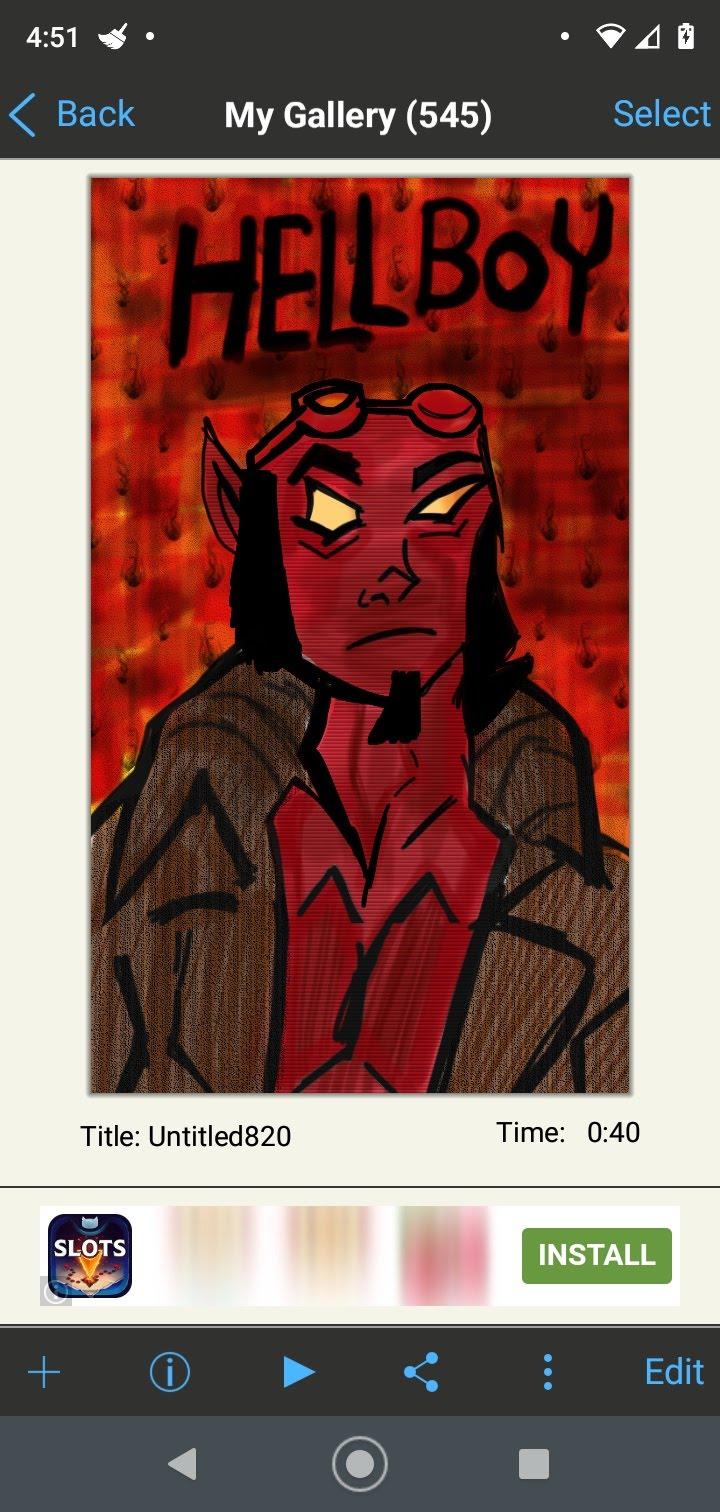 drawing hellboy by artfreakjess1