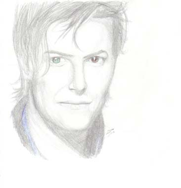 David Bowie by artyfowl3