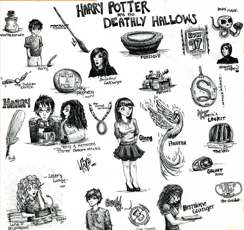 Harry Potter Doodles by ashbrook