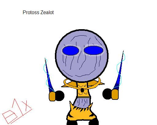 Chibi Starcraft: Protoss Zealot by B1x
