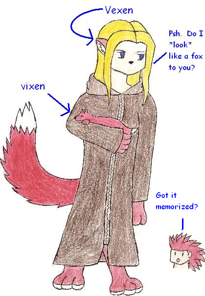 Vexen Is Not a Vixen by Batdragon