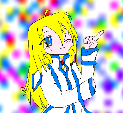 Colette, drawn in paint by Bezt