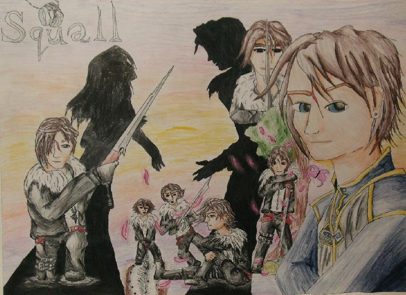 Squall Leonhart *contest for Dark_Shiva* by BlackAngelicDevilFire
