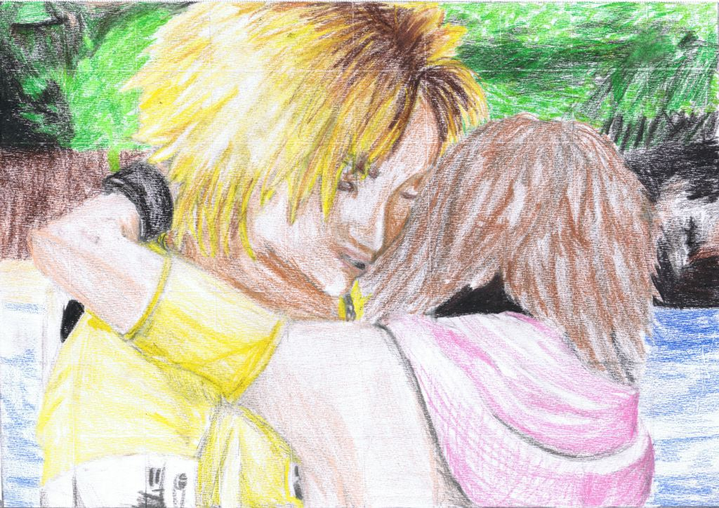 Tidus and Yuna by BlackAngelicDevilFire