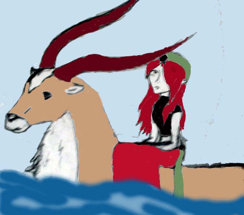 Swimmin on an elk by BlackRose_Archer