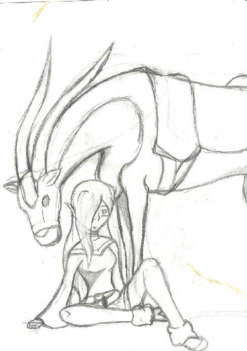 Akina sketch by BlackRose_Archer