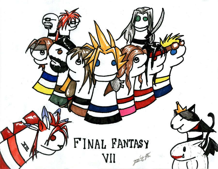 FFVII Sock Puppets (for Sephora) by Blade