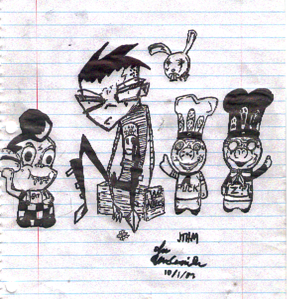 Small Shitty JTHM Sketch by Bladez636