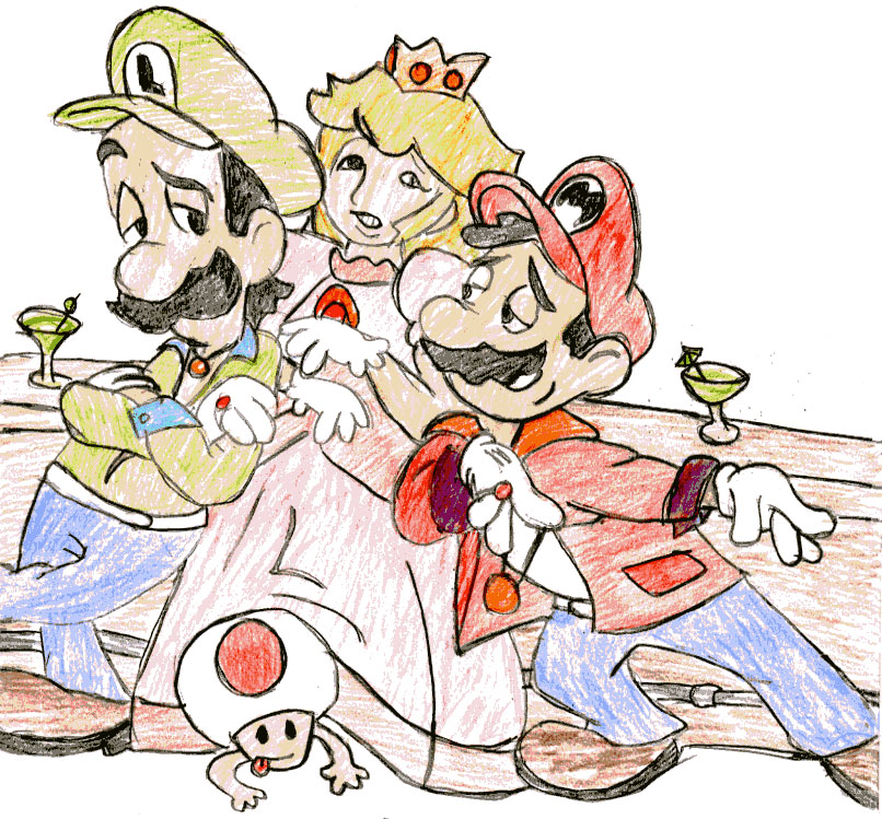 mario luigi and are drunk by BloodBrothers