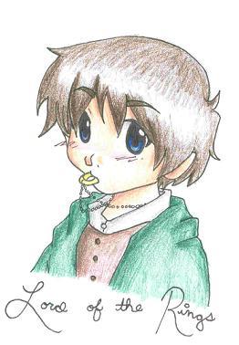 Chibi Frodo by BloodRoses1619