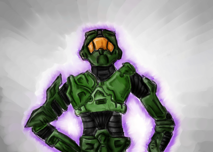Master Chief by BlossomHeart