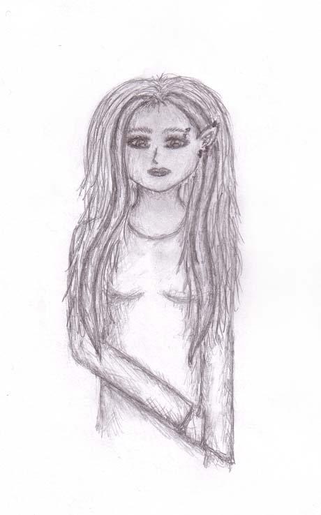 Pierced Elf Girl by BlueMoonEternity