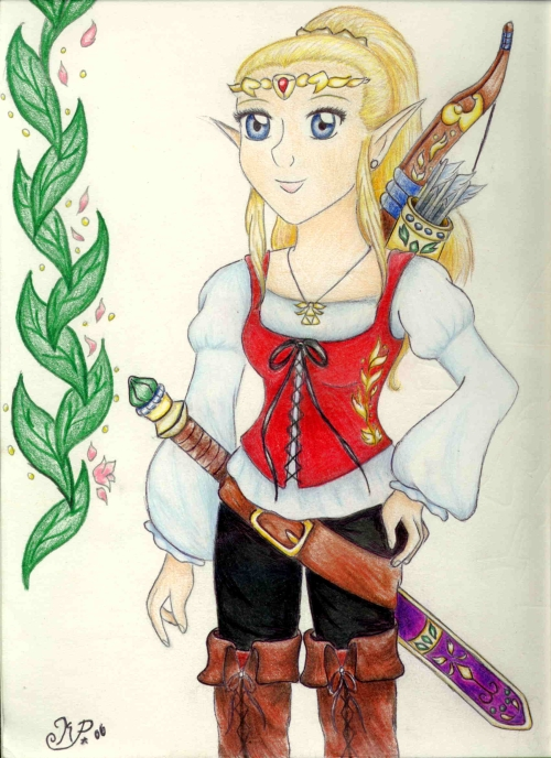 Battle ready Zelda by Blue_Starfire