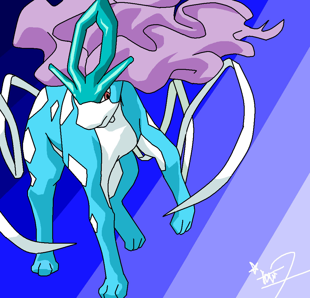 Suicune~ by Boltbendergirl