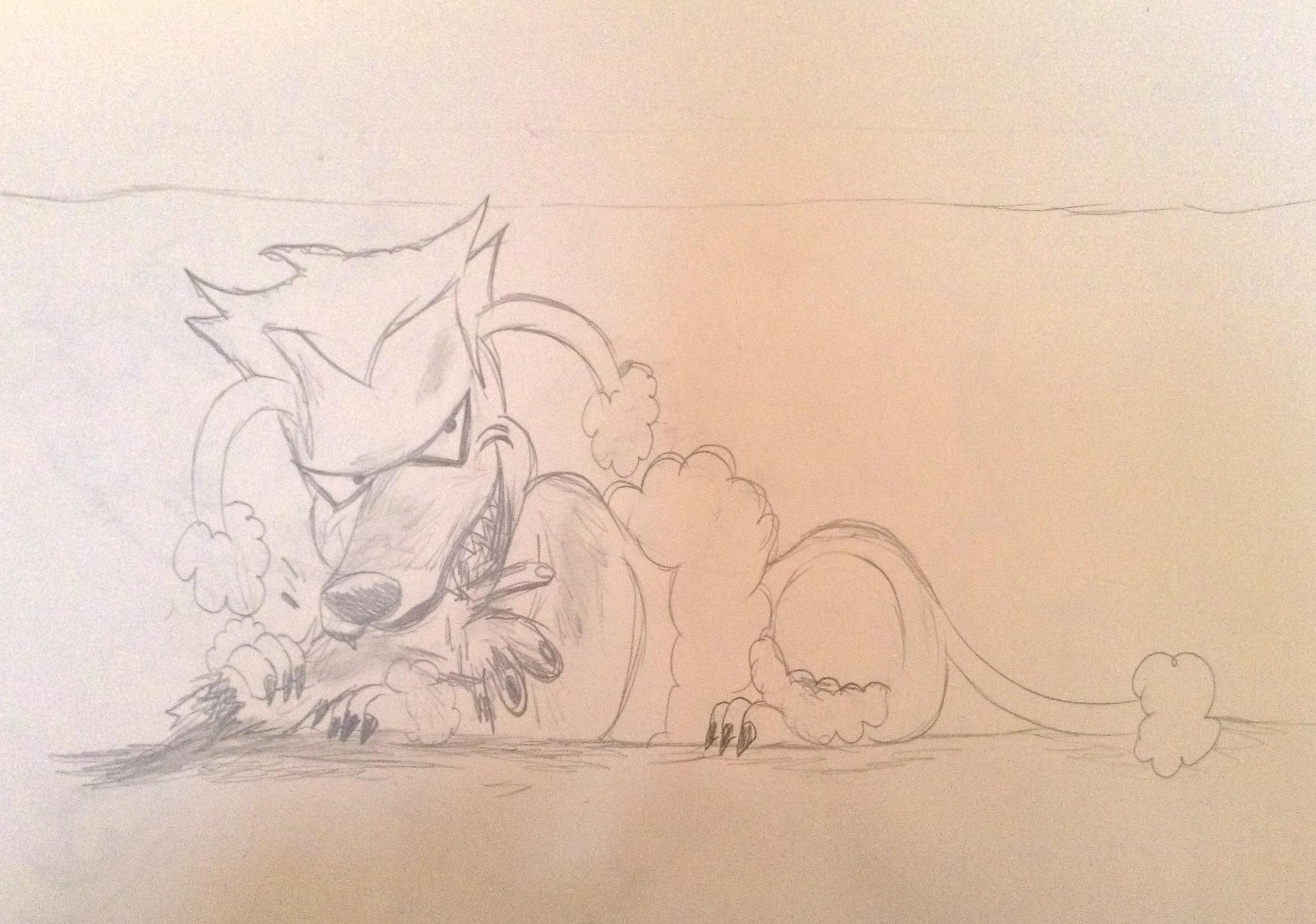Joker poodle having a snack by BtasJokerFan