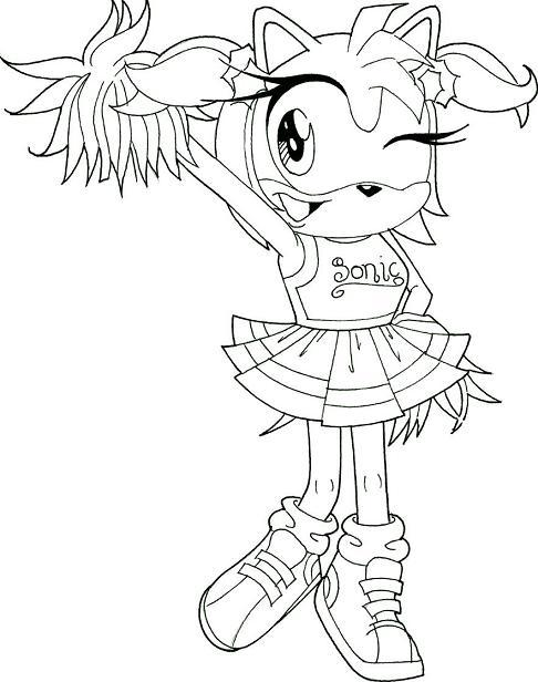 Amy Rose as a cheerleader by ButterflyKisses