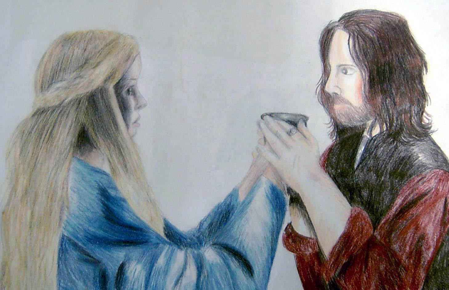 Aragorn and Eowyn by bachel
