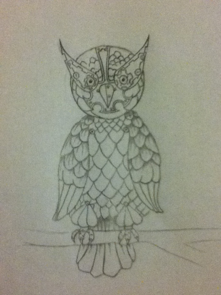steam punk owl by badash77