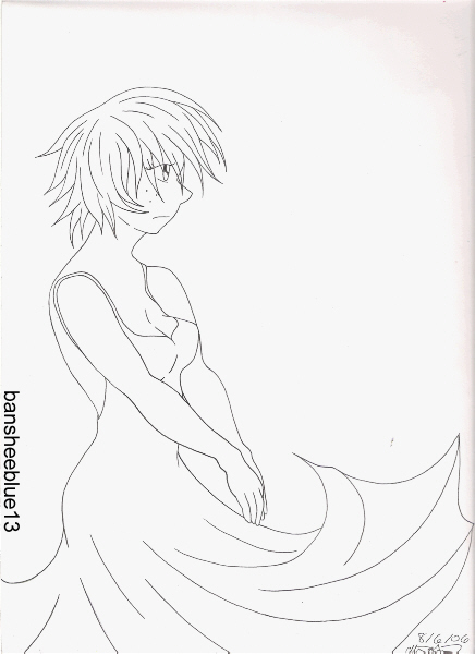 Windy dress by bansheeblue13