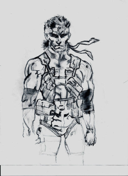Solid Snake - MGS2 by barker09