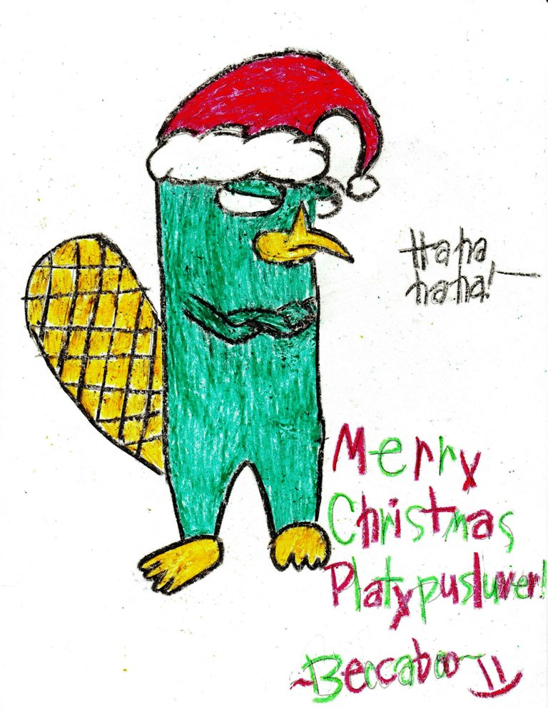Perry Christmas! get it? xD ~for platypusluver~ by beccaboo