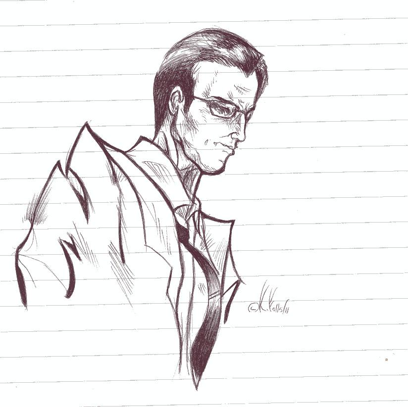 Agent Smith sketch by benignmilitancy