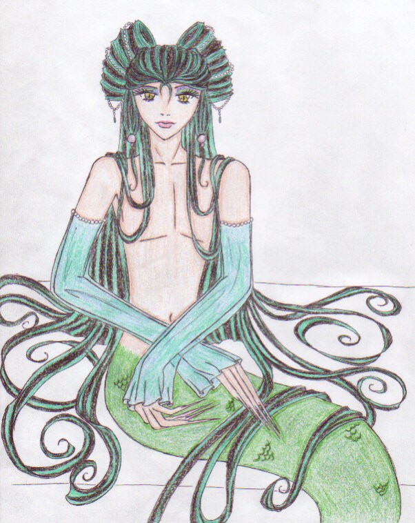 merman (colored) by bishies_lover