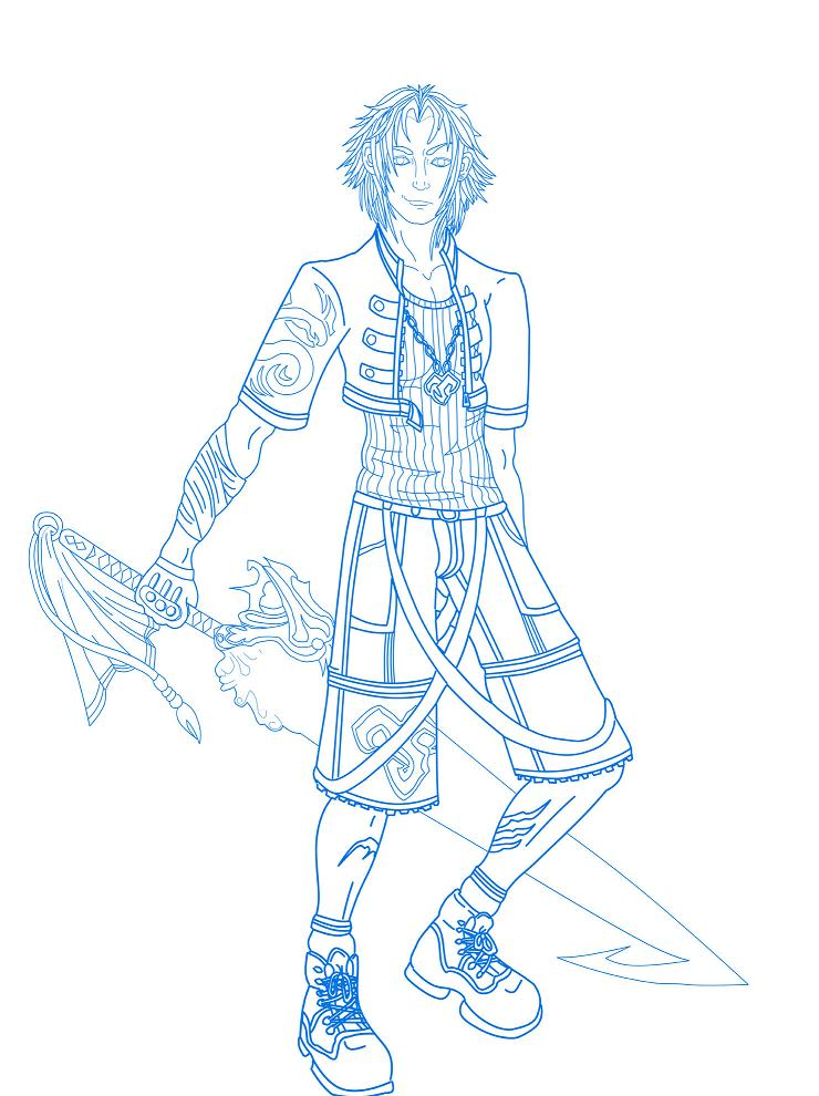 Tidus - Warrior by black_winged_white_angel