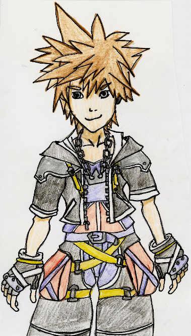 Sora (kingdom Hearts 2 Chain of Memories) by blackbird1331