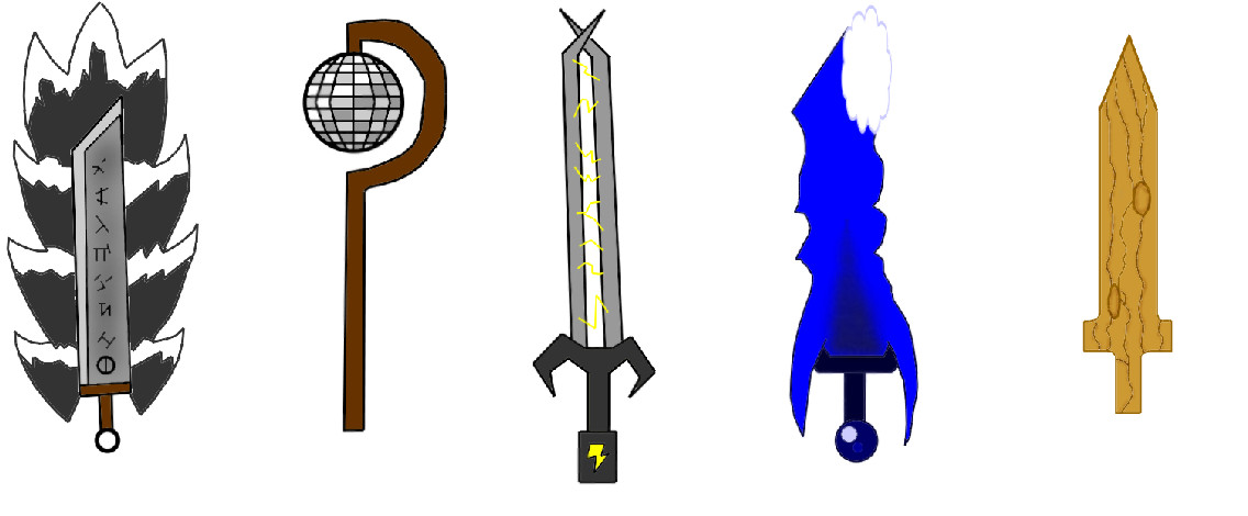 Weapon Ideas by blackcatcurse