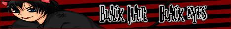Banner: Black hair Black eyes by blackpaintbucket