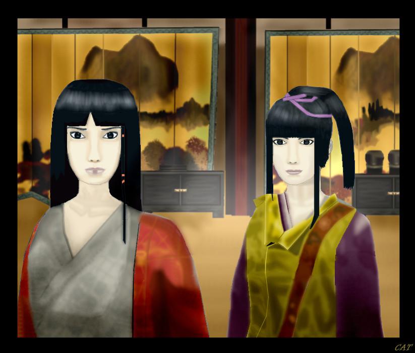 Utsuki and Sakuya by bluefairy421