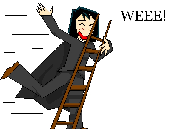 Snape having fun on a Ladder by bobobejobo