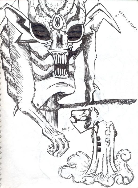 El Diablo & Alien by brittanybob