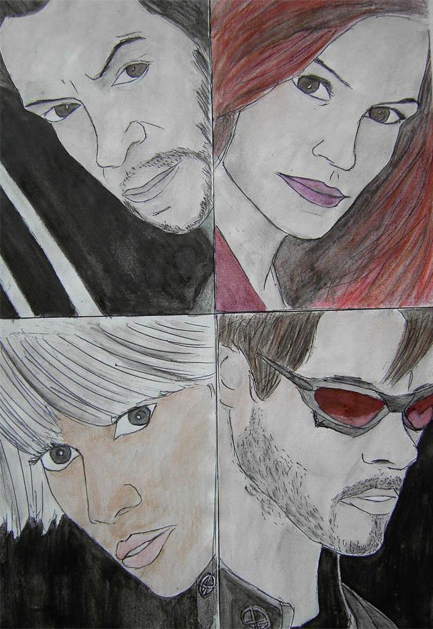 Wolverine, Jean, Storm, Cyclops colour by bufstk