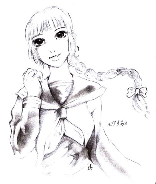 Kasumi in Shool Uniform by CELICA--ishikawa