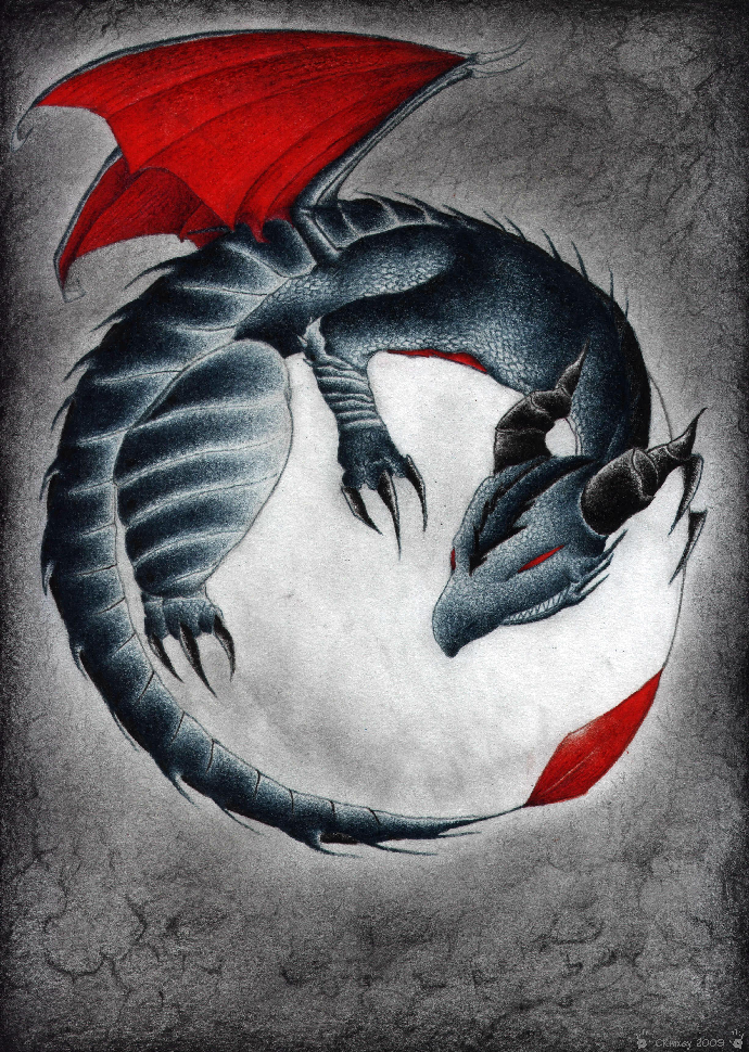 Darkness Dragon (Request for xxXShadowWolfXxx) by CRwixey