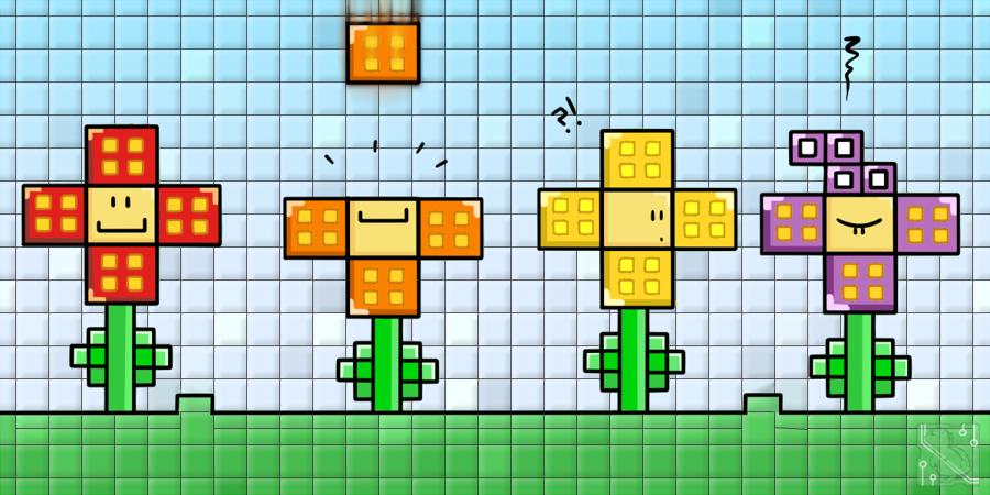 Tetris Flowers by CRwixey