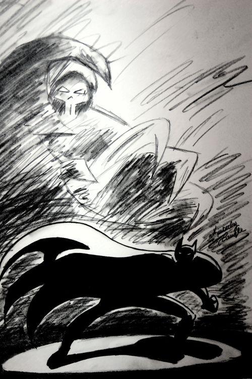 Batman: Mask of the Phantasm Sketch by CarbonArtistry