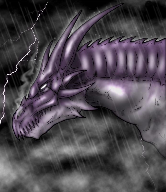 Rain Dragon by Cerberus_Lives